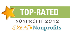 2012 Top-Rated Award from GreatNonprofits!