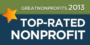 2013 Top-Rated Award from GreatNonprofits!