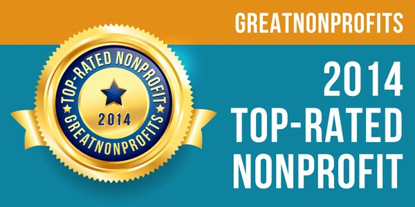 2014 Top-Rated Award from GreatNonprofits!