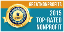 2015 Top-Rated Award from GreatNonprofits!