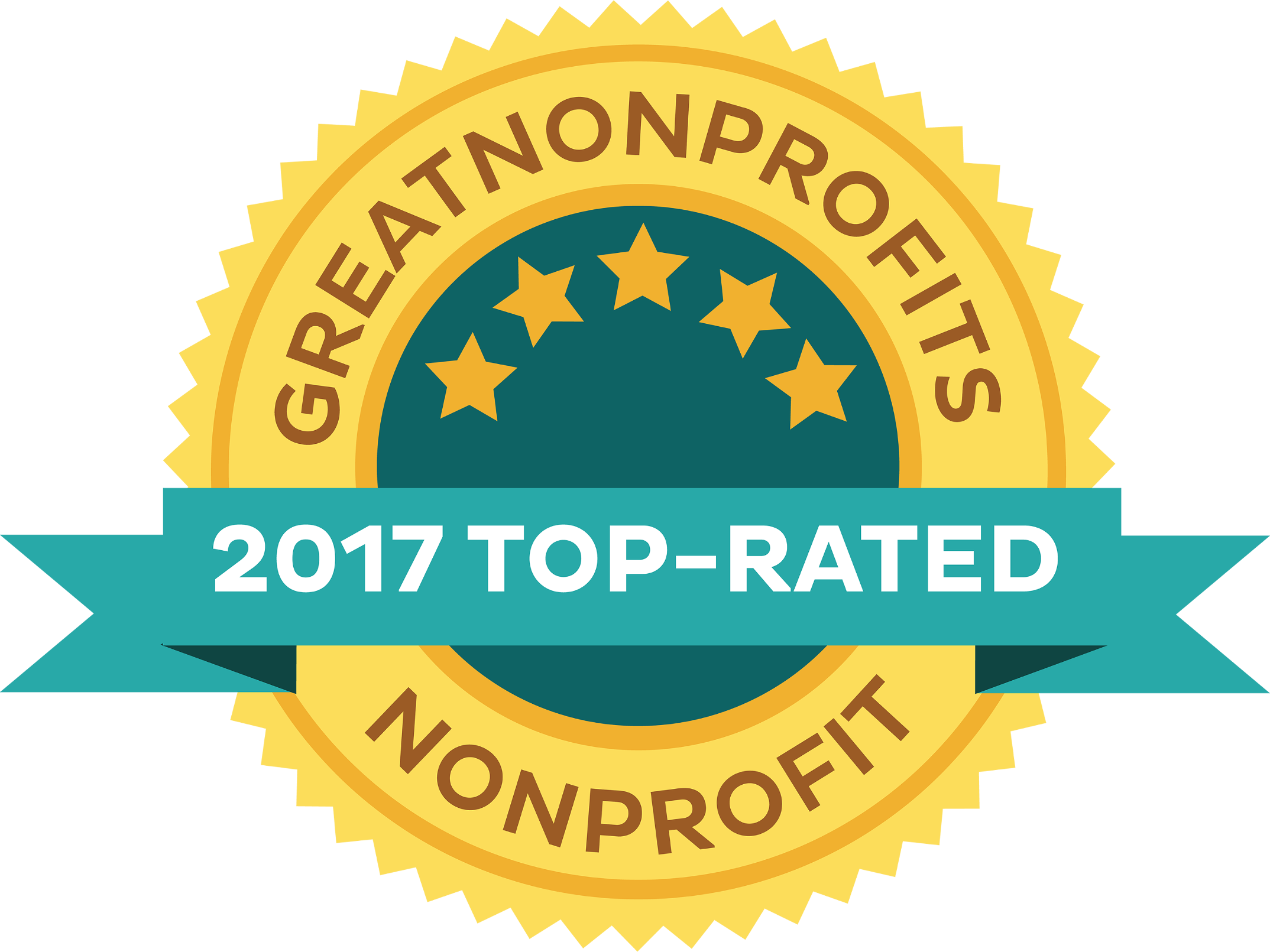 2017 Top-Rated Award from GreatNonprofits!